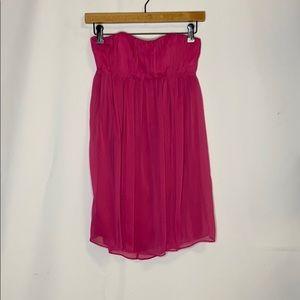 Alice + Olivia Dark Pink Strapless Dress